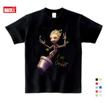 Groot T-shirts Boy Girls Cartoon Printing T-shirtPure Cotton Round Neck Baby Tshirt children's Infant Toddler For boy and girl neck hammock for women man girl boy and so on