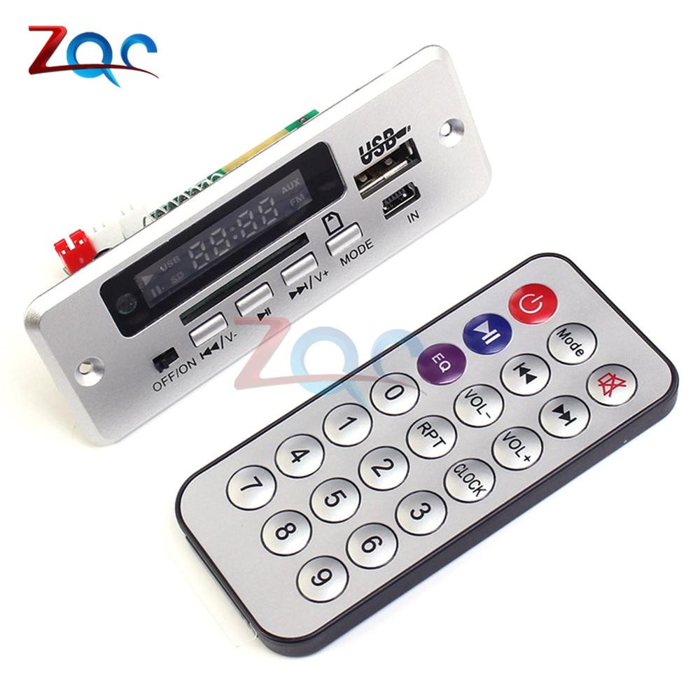 5V Mini MP3 Decoder Board Bluetooth Call Decoding Module MP3 WAV U-Disk TF Card USB With 2*3W Amplifier Remote Controller