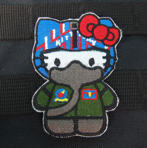 Hello kitty predator kitty military tactics morale embroidery.