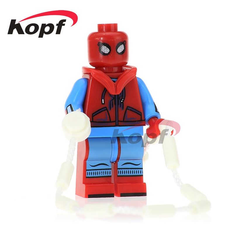 20Pcs PG260 Building Blocks Homecoming Spider-Man Spiderman Matt Murdoch Two-face Dolls Super Heroes Bricks Children Gift Toys