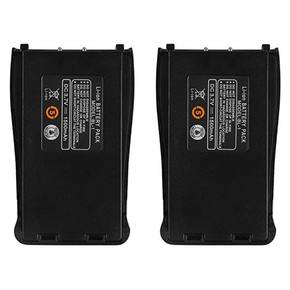 2Pcs Baofeng BF-888S 3.7V 1500mah Li-ion Spare Battery For Baofeng Bf-888S BF888S 888S Walkie Talkie Retevis H-777 H777 Radio