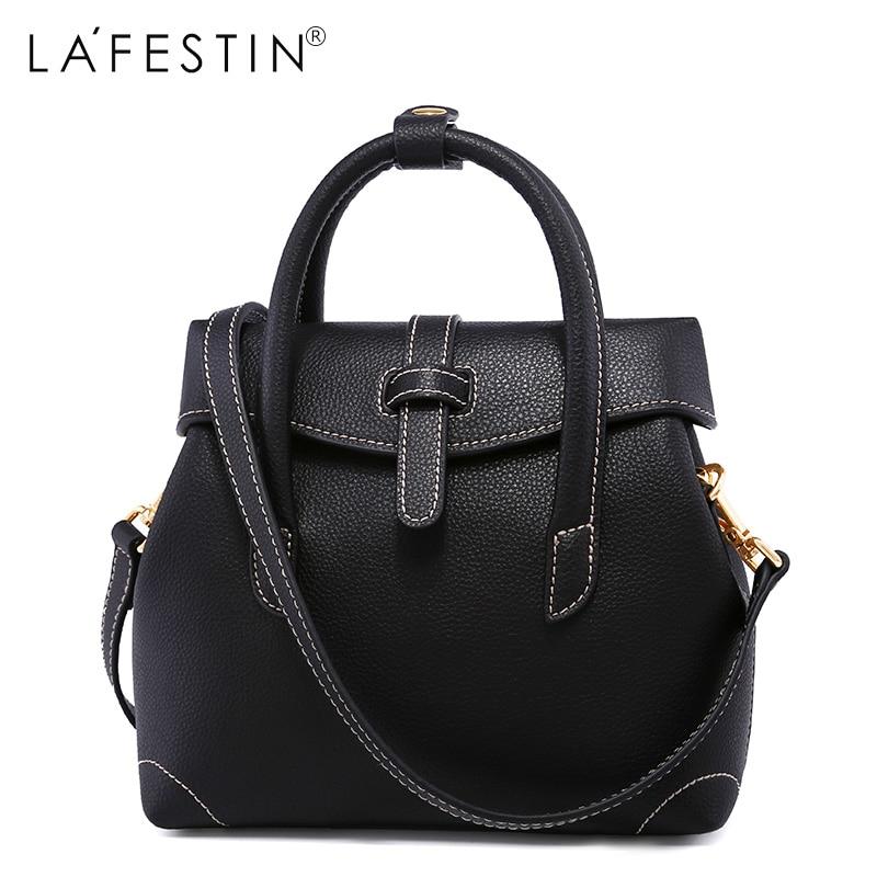 LA FESTIN European and American Style Women Leather Handbags Famous Brands Messenger Single Shoulder Designer High Quality Bags