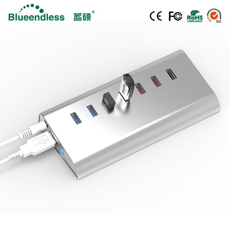 Aluminum Quick Charging USB 3.0 HUB USB Hub Splitter for PC Computer Laptop Notebook Peripherals Accessories High Quality Speed