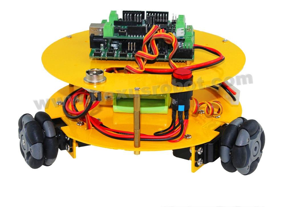 3 WD 48mm Omni Roți compatibil cu Arduino mașină Robotics - Materiale școlare și educaționale