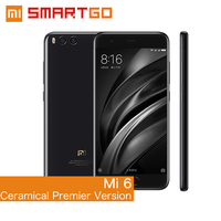 Original Xiaomi Mi6 Mobile phone Ceramical Premier Version 6 GB RAM 128GB ROM Snapdragon 835 Octa Core 1920x1080 Dual Cameras