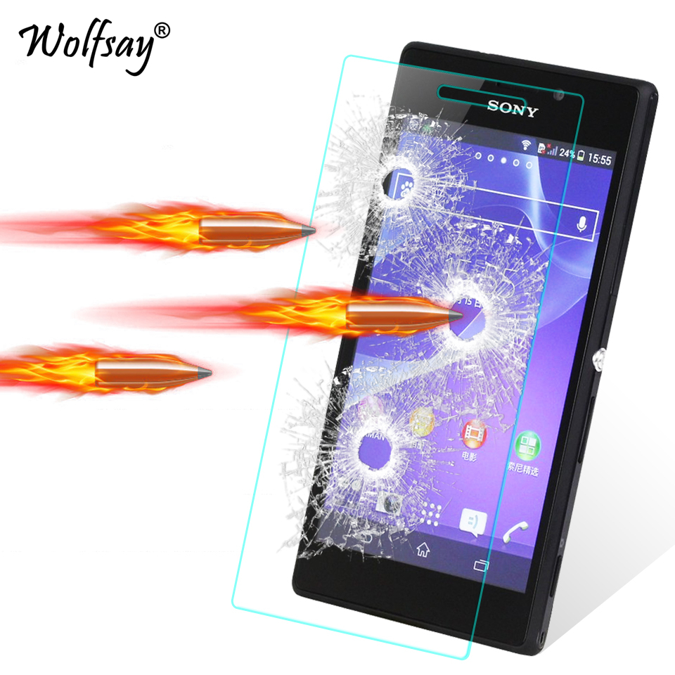 2pcs For Glass Sony Xperia M2 Screen Protector Tempered Glass For Sony Xperia M2 Glass For Sony M2 D2302 D2303 Film Wolfsay