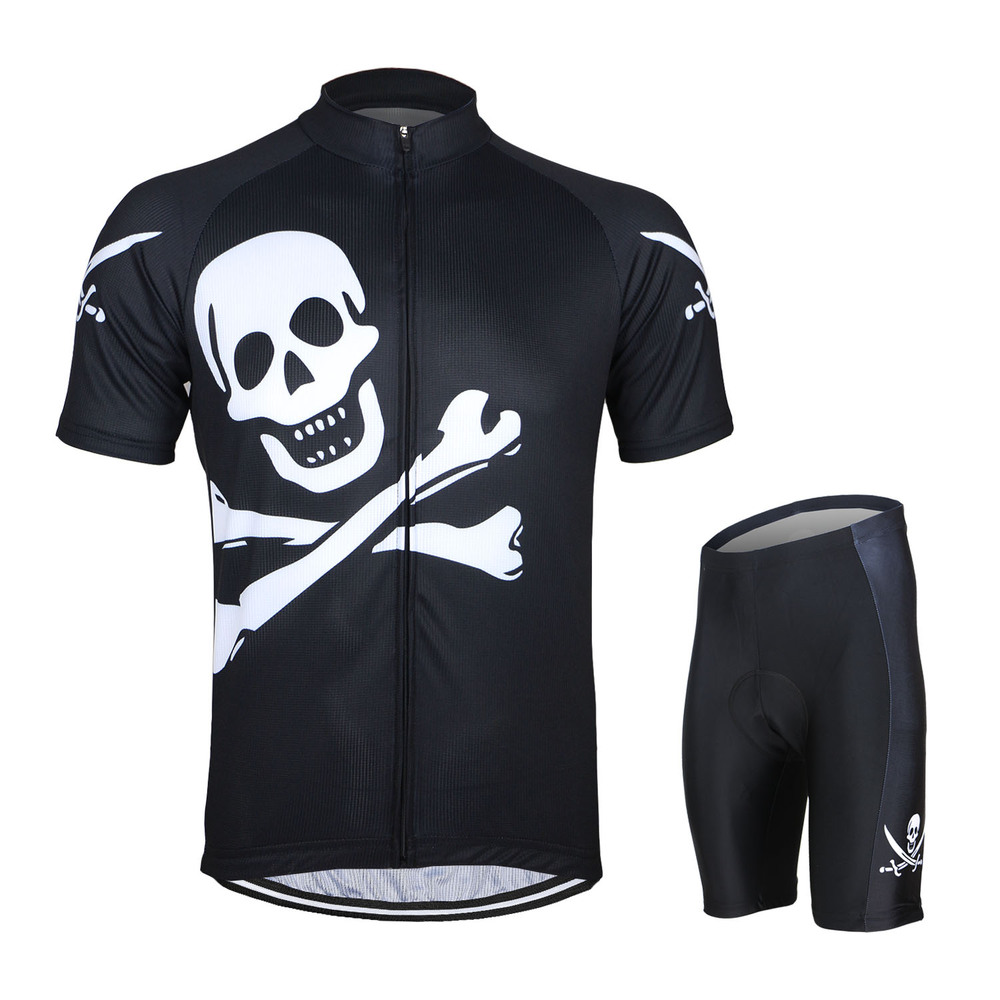 Psg black and pink jersey - Arsuxeo Skeleton Sport Jerseys Skull Pro Cycling Jersey Set Mallot Ciclismo Mtb Bike Bicycle Psg Jersey