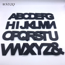 1Pc 7.4*9cm Black Foam Letter 3D Three-Dimensional Removable English A-Z DIY Wedding Party Home Room Decor Supplies 5Z