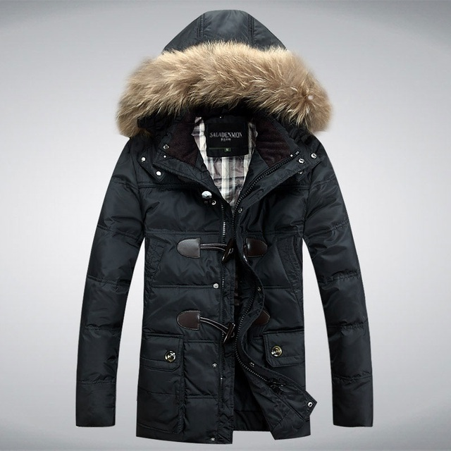 Men's Down jacket With Hood 90% Duck Down Winter Overcoat Plus Size Outwear Winter Coat Free Shipping Wholesale And Retail