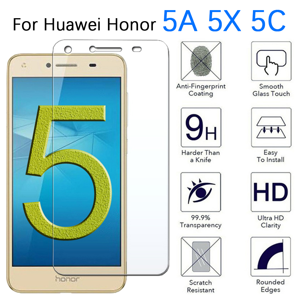 Protective Glass For Honor 5C 5A 5X Screen Protector Cover On The Honer 5 A C X A5 X5 C5 Honor5A Honor5C Honor5X Tempered Glas