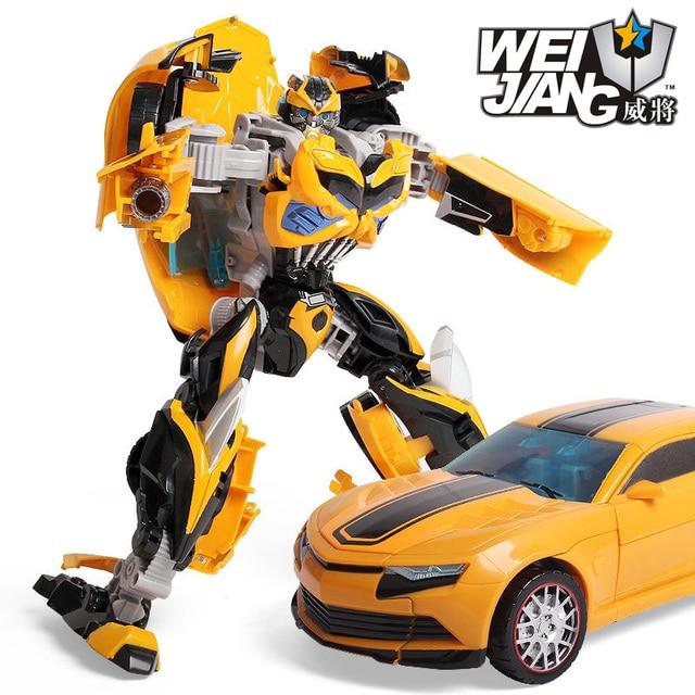 30 Cm ABS + Paduan Cacat Mainan Raja 5 Hornet Bug Anak Laki-laki Robot Transformasi Mainan Film 5 Mainan Mobil Robot anime Hadiah