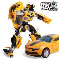 30CM  ABS + Alloy deformed toy king 5 hornet bug boy robot Transformation toys Movie 5 Robot Car Toys Anime Gift