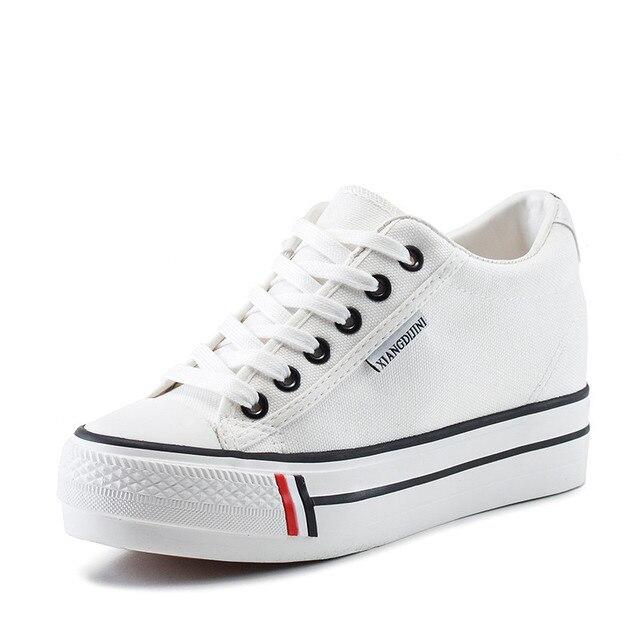 Hot Sale Thick Sole Women Shoes 2016 Breathable Canvas Shoes Women Casual Platform Shoe Zapatos