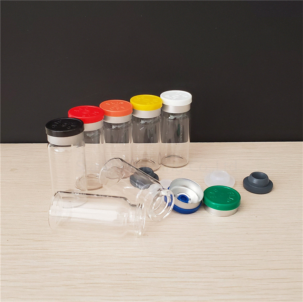 10ml clear glass vials with flip off caps rubber stoppers 1 3 oz injection glass bottle