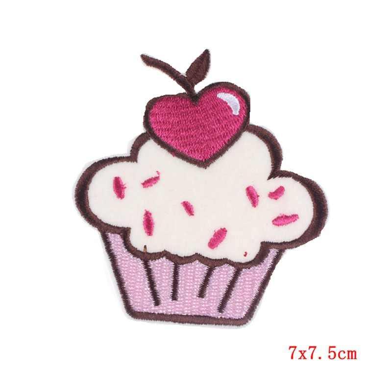 Pulaqi Hoạt Hình Cupcake Sắt Trên Thêu Miếng Dán Sắt Miếng Dán Cho Quần Áo Dán Cường Lực Dán Trên Ba Lô Áo Thun Tự Làm Sỉ F