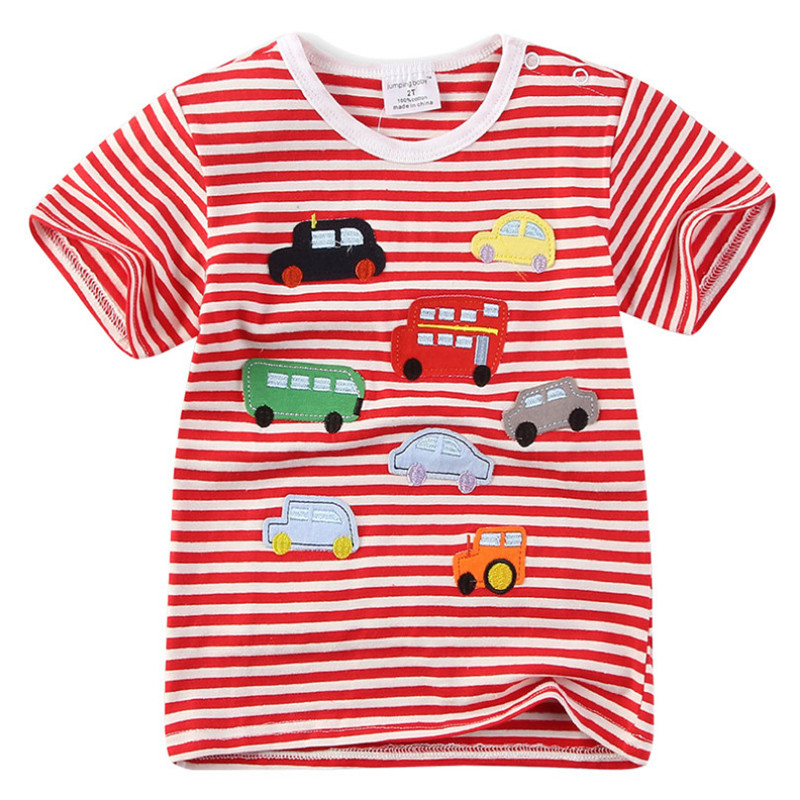 18m-6T different sizes Striped applique promotion T shirts for boys animal hot children clothes Jumping meters summer boys Tees18m-6T different sizes Striped applique promotion T shirts for boys animal hot children clothes Jumping meters summer boys Tees