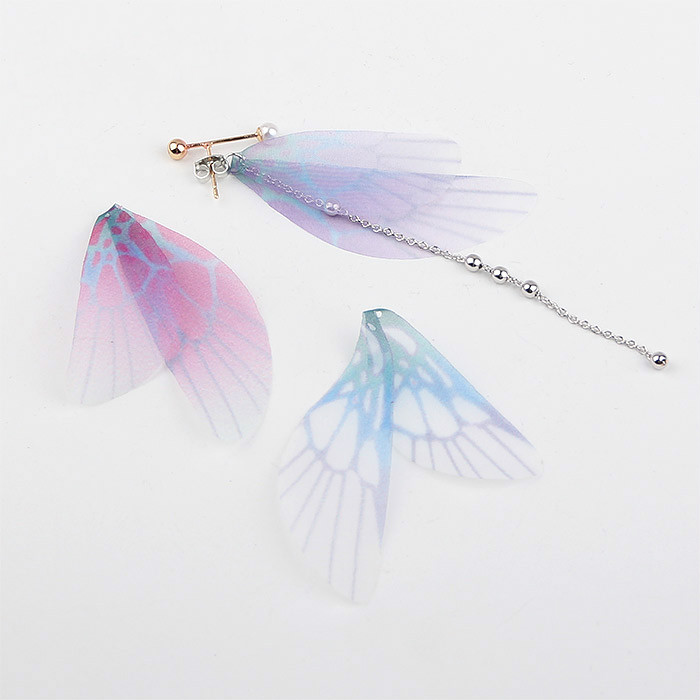 Transparent dragonfly wing cicada wing pendant diy handmade ear accessories clip earrings earring material package accessories