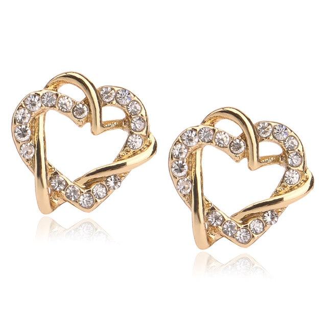 5pcs Lot Fashion 18k Gold Earring Designs New Model Heart Earrings For S