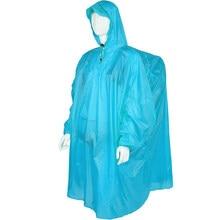 aa656cd3b2a Mochila al aire libre cubierta de la lluvia del impermeable de Nylon  recubierto suave capa impermeable con capucha Poncho de llu.