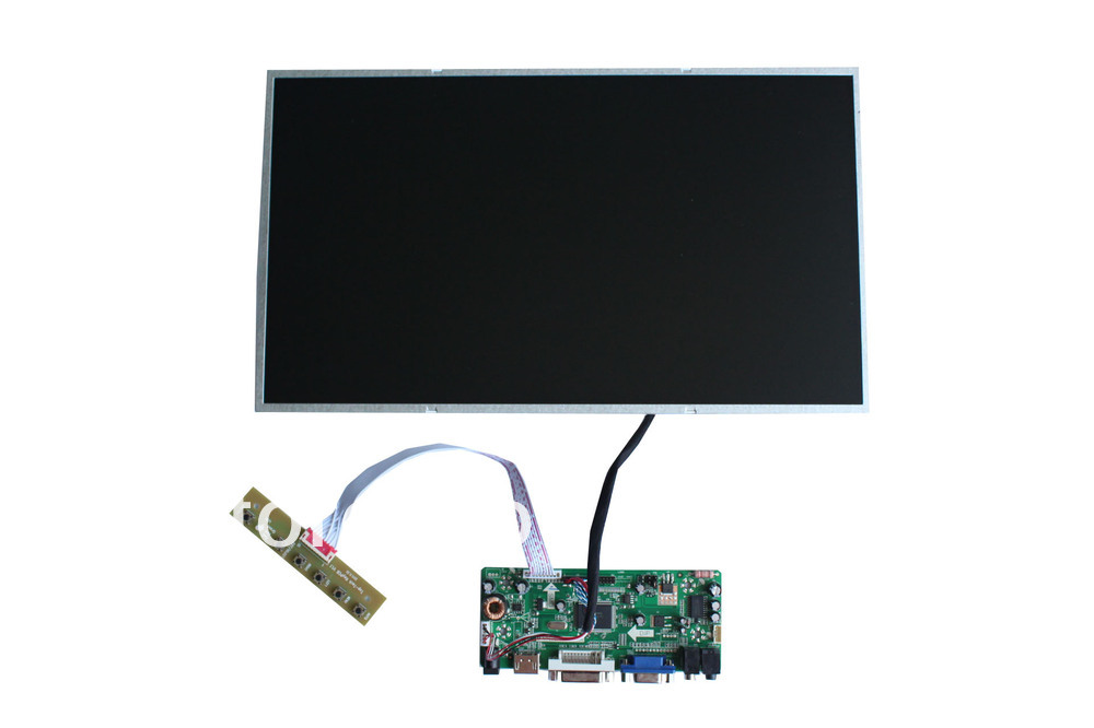 HDMI+DVI+VGA +Audio  LCD controller  board+ N156BGE-L11 +LVDS cable +OSD keypad with cable переходник aopen hdmi dvi d позолоченные контакты aca311