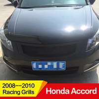 Use for Honda Accord Racing Grills 2008 09 10 Year carbon fibre Refitt Front Center Racing Grille Cover Accessories no car logo