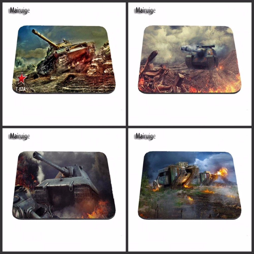 Top Selling Luxury Print Hot 2017 World of Tank Game Gaming Durable PC Anti-slip Rubber Mouse Mat for Optical/Trackball Mouse