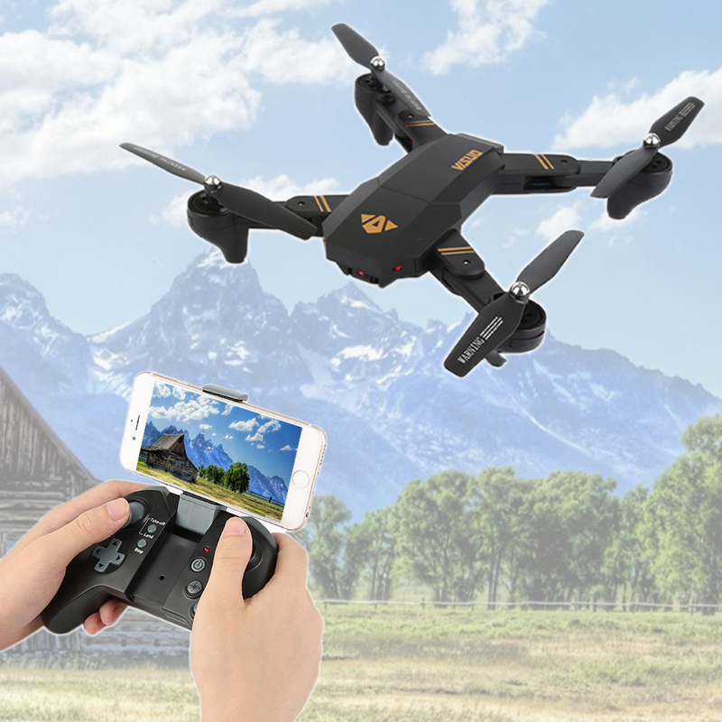 VISUO Xs809HW Xs809W Foldable Drone with Camera HD 2MP Wide Angle WIFI FPV Altitude Hold RC Quadcopter Helicopter VS H47 Dron 1