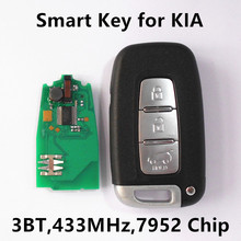 (2011-2013) 3 Botones de la Llave Del Coche A Distancia Inteligente Tarjeta Inteligente Para KIA Mohave Borrego Sorento Soul Sportage 433 MHz 7952 Chip