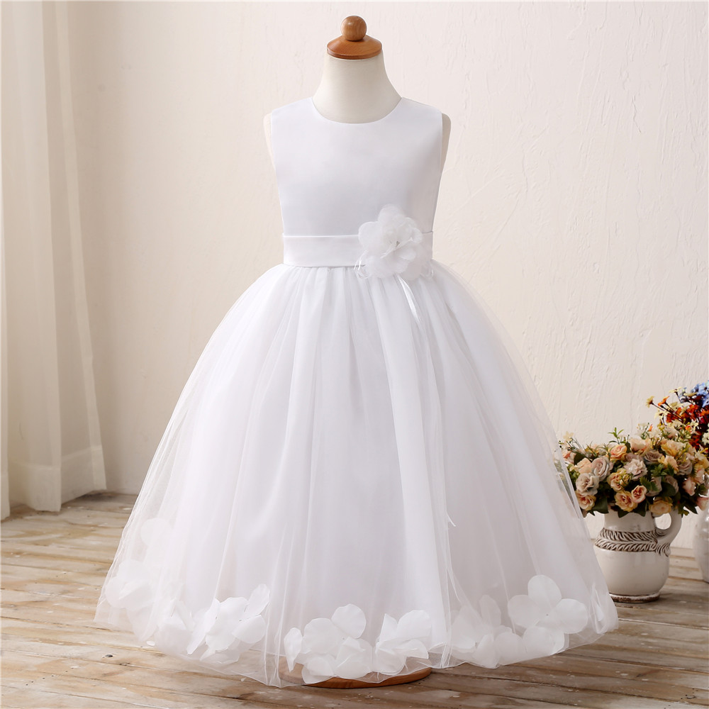 Flower Baby Wedding Gown Children's Clothing Girl Party Wear Tulle Evening Events Dress Kids Costumes Dresses for Girls Clothes sequin prom evening gown flower girls dress girls wedding party wear clothing children kids dresses for girl clothes tutu dress