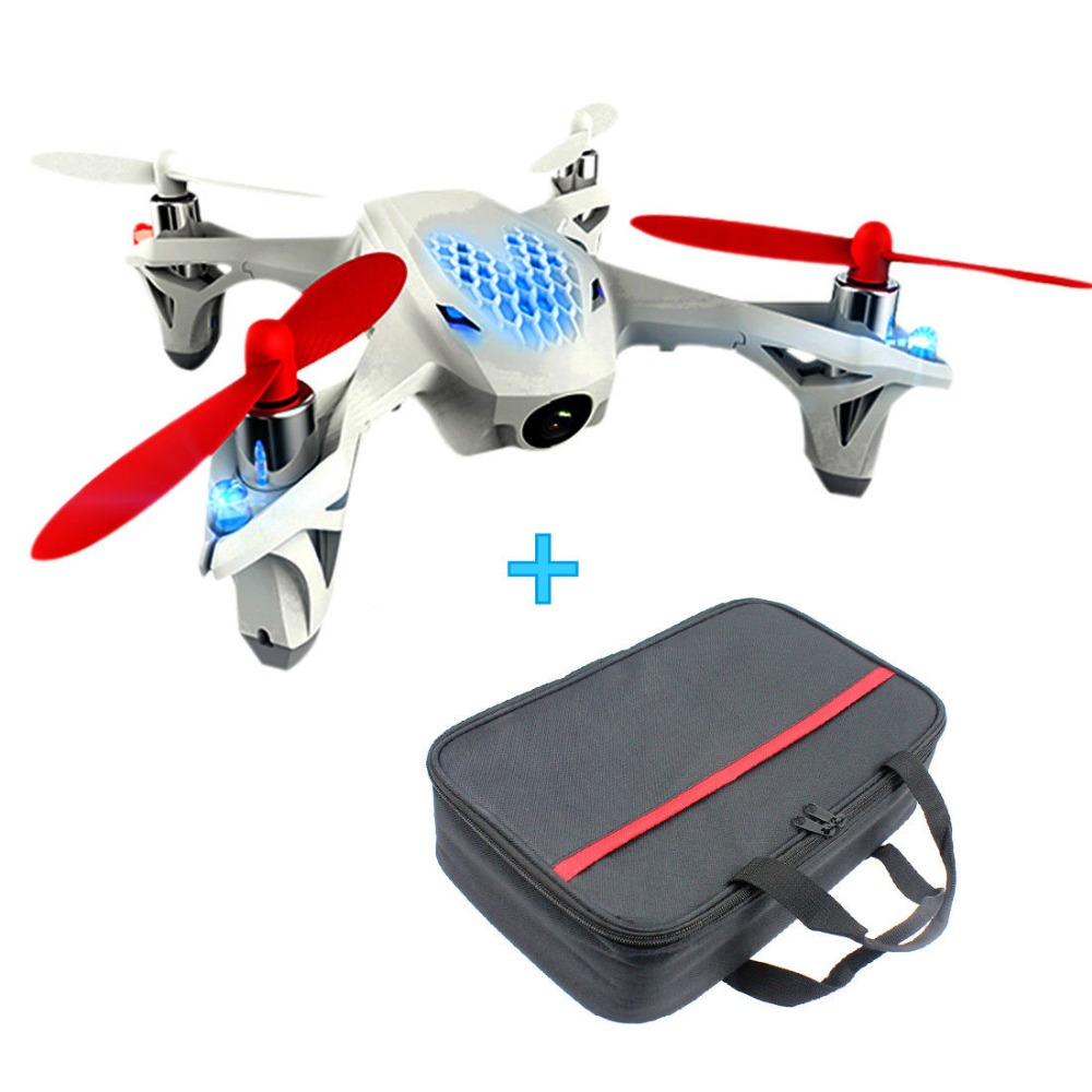 цены JMT Hubsan H107D X4 Transmitter 2.4G FPV RC 4CH 4 Channel RC  Quadcopter Drone +Carrying Bag F08562-C