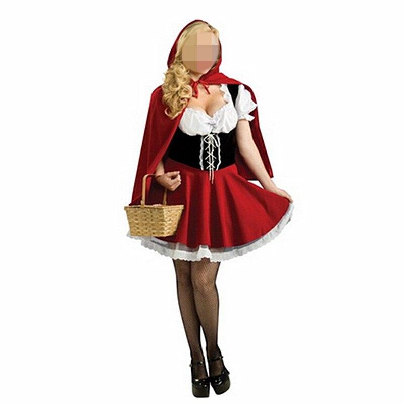 Horror Red Riding Hood Costume Ladies Halloween Fairytale Fancy Dress