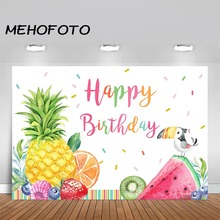 MEHOFOTO Twotti Fruitti Birthday Backdrop Happy Fruit Party Photography Background Fruttis Backdrops
