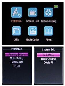 Image 3 - SATLINK SP 2100 HD سات مكتشف DVB S/S2 Satfinder MPEG 2/4 الرقمية الأقمار الصناعية مكتشف متر مع 3.5 بوصة شاشة LCD pk WS 6906