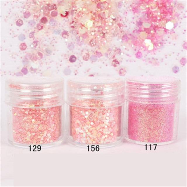 Mixed Art Glitter Sequins Powder 32 Colours