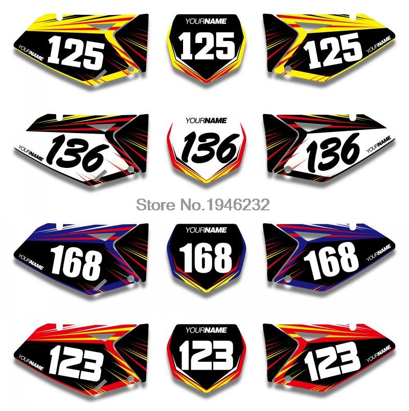 NICECNC Custom Number Plate Background Graphics <font><b>Sticker</b></font> & Decal For <font><b>Suzuki</b></font> RMZ250 RM-Z250 2007 2008 2009 RMZ RM-Z 250 image