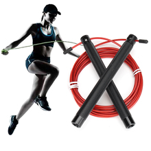 Metal Handle Skipping Rope Speed Jump Rope Fitnesss Crossfit Steel Wire Jumping Rope with Wire Bearing Exercise Workout 3 Meters