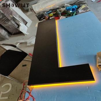 Segni Di Numero Civico Personalizzati | Interna A LED Retroilluminato Segni Personalizzato Edifici Segnaletica 3D Metallo Luminoso Acrilico Retroilluminato Segni
