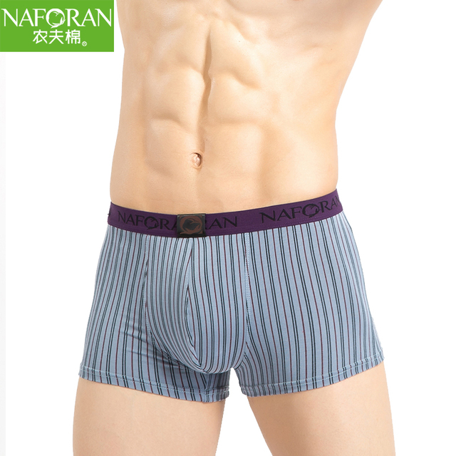 Classic Striped Cotton Boxer Shorts 3/4Pcs/Lot Men's Underwear Spandex Gray Comfortable Men Fashion Plaid Panties Man Underpants