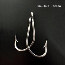 CN02 10pcs 12/0 Mustad Fish Hook Stainless Steel Fishing Hook Jigging Fishing Hook Big Game Fishing Hook