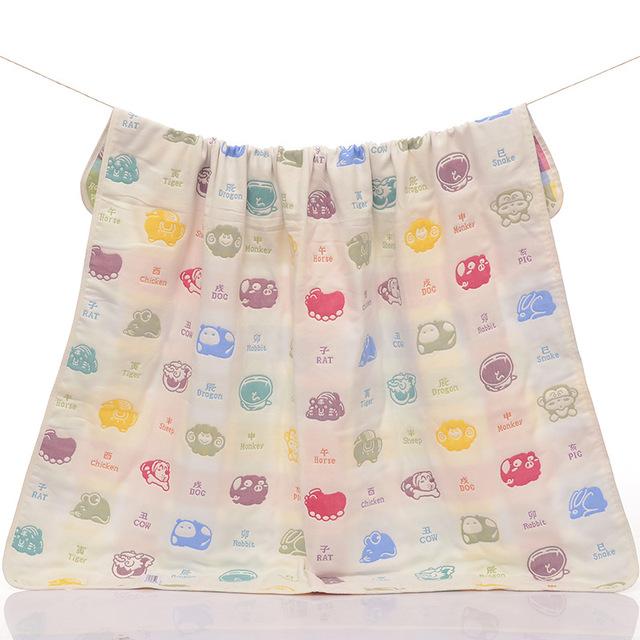 1 Peça 2016 Novos Cobertores Do Bebê Tamanho 110*115 centímetros de Algodão Confortável Cobertor Para Recém-nascidos Quente Colcha de Desenho Animado