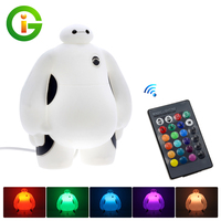 Novelty AC220V Big Hero 6 Baymax Cartoon LED Night Light Cute Table Lamp Bedroom Decoration Amazing