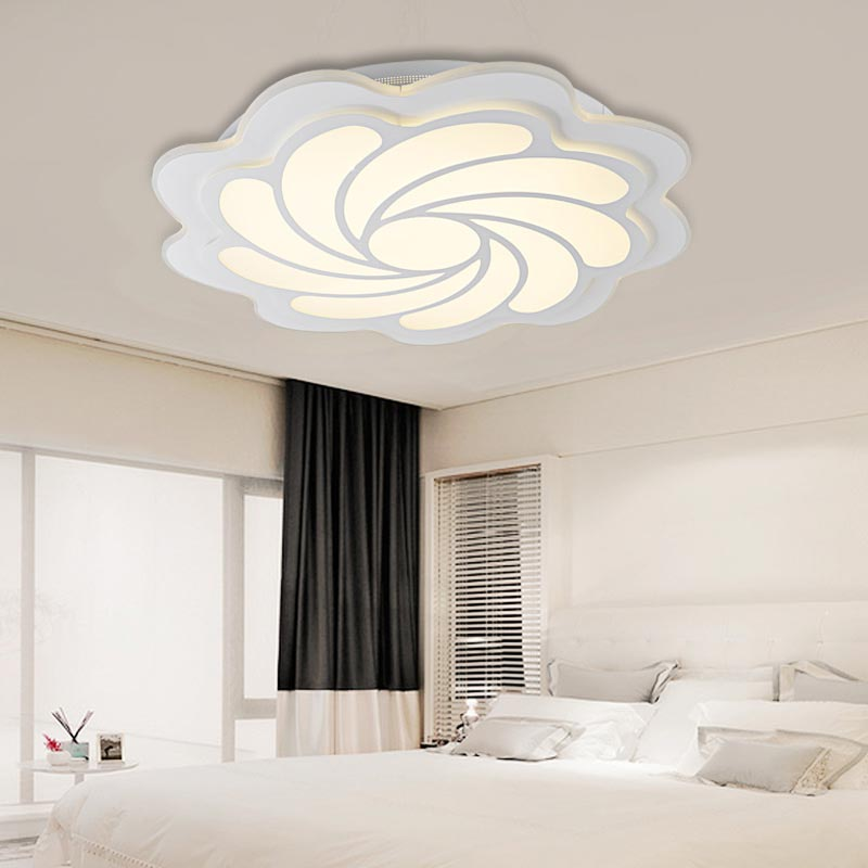 Modern Led Ceiling Lights With Remote Control Living Room Bedroom Kitchen Decor Home Lighting Fixtures White Acrylic Lamp 220V modern multicolour crystal ceiling lights for living room luminarias led crystal ceiling lamp fixtures for bedroom e14 lighting