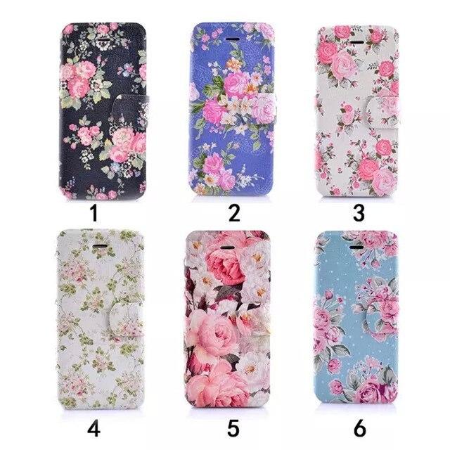 unique creat your own design custom case flower pattern wallet print