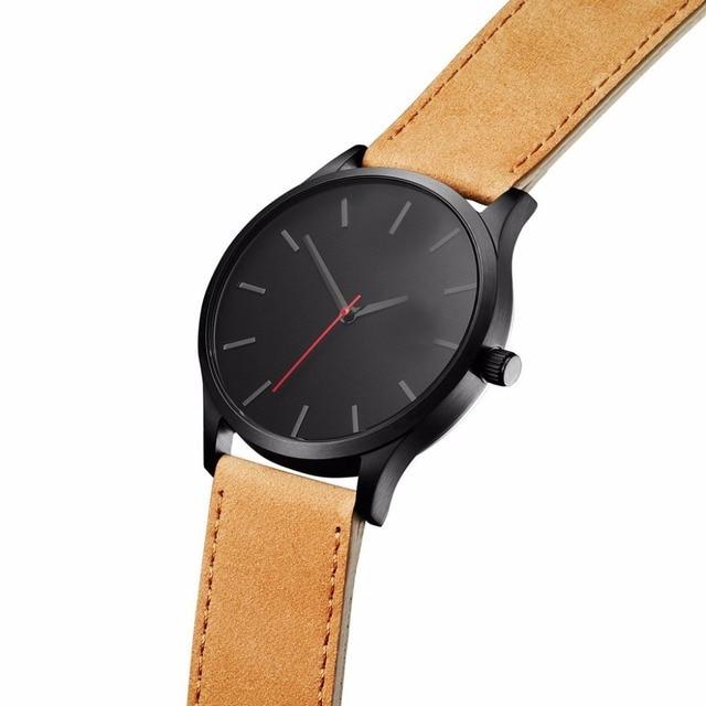 часы мужские наручные с кожаным ремешком брендовые роскошные фотография