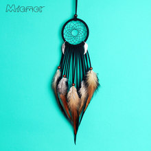MIAMOR Black & Gray Dreamcatcher With Angel wings Nursery School Kids Room Decoration Car & Home Wall Decor Accessories AMOR0702(China)
