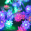 10M 50LED Decoration Garland Lotus Ball LED String Lights Christmas New Year Holiday Party Wedding Lamp Lighting