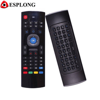 MX3 2.4GHz Wireless Keyboard Air Mouse Two sided Remote Control Gyroscope Sensors MIC Combo For MXQ M8S M95 S905 Android TV BOX