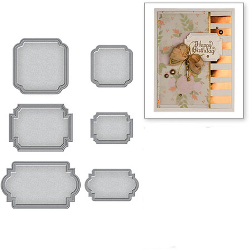 Sizzix Thinlits Die Set by Tim Holtz 4pcs Retro Repeat 664160