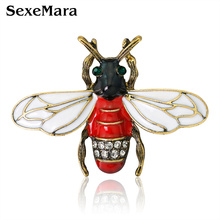 SexeMara Enamel Bee Brooches Unisex Insect Brooch Pin Women and Men Jewelry Cute Small Badges Fashion Jewelry Wholesale Price