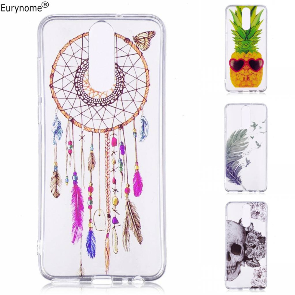 Cartoon girl flower pineapple soft TPU transparent back cover case for Huawei Mate 10 Lite G10 Honor 9i Nova 2i Maimang 6 + Pen